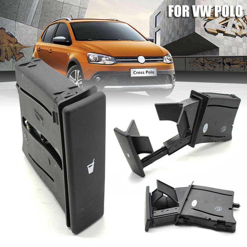 Black Center Console Water Drink Cup Holder 6Q0 858 602 G for VW Polo 2002-2010