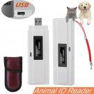 Animal ID Reader 134.2Khz ISO FDX-B Chip Dog Microchip Pet RFID Scanner White
