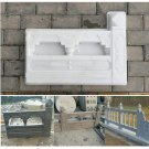 DIY Concrete Fence Mold Garden Flower Pool Plastic Mold Brick Courtyard Hole
