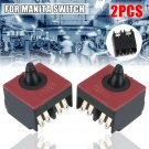 2Pcs DPX-2110-R Switch Replacement For MAKITA 650560-8 GA5030 GA4530 9558NB Red
