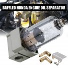 Engine Oil Separator Catch Reservoir Tank Can Baffled For Honda Civic Acura