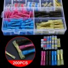 200Pcs Heat Shrink Butt Wire Connector Soldering Sleeve Tube Terminals Connector