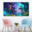 24x36inch Psychedelic Trippy Mushroom Town Art Fabric Silk Poster DIY Decor