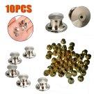 10Pcs Silver Low Profile Fastener Locking Pin Keepers Backs Set Gold Silver