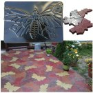 Driveway Paving Pavement Mold Concrete Stepping Stone Path Maker-Butterfly DIY