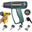 2000W Heat Gun Hot Air Thermoregulator LCD Display + 4 Nozzles Power Heater Tool