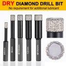 Set Drill Bit Porcelain Glass Ceramic Tile Spade Dry Cut Diamond Tool 6/8/10/12/14mm