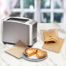 10Pcs Sandwich Toaster Toast Bags Non-Stick Reusable Heat-Resistant Safety