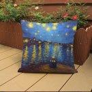 18x18'' Oil Painting Cushion Cover Throw Pillow Case Car Home Office Sofa Decor