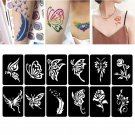 118 Pattern Airbrush Template  Temporary Tattoo Stencil Sticker Body Paint Art