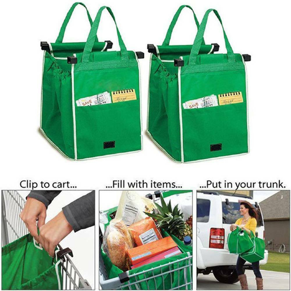 Grocery Shopping Bag Foldable Tote Eco-friendly Reusable Supermarket Bags Large