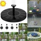 Solar Powered Floating Bird Bath Water Panel Fountain Pump Garden Pond Pool