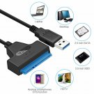 """USB 3.0 to SATA 2.5"""" HDD SSD Hard Drive Disk Converter Cable Power Adapter"""