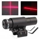Red Dot Laser Sight Scope Tactical Laser Sight Scope Mount Rail Slots Adjustable
