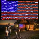 American US Flag 420 LED String Net Bright Light Festival Celebration Decoration