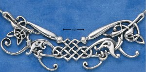 "Sterling Silver .925 Large 18"" Celtic Knot Necklace Choker"