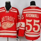 Men's Red Wings #55 Niklas Kronwall Red Winter Heritage Classic Stitched Jersey