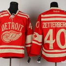 Men's Red Wings #40 Henrik Zetterberg Red Winter Heritage Classic Stitched Jersey