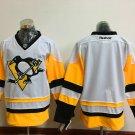 Men's Pittsburgh Penguins Blank White Throwback Ice Hockey Jersey