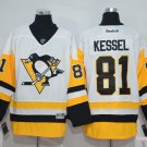 Men's Pittsburgh Penguins #81 Phil Kessel White Throwback Stitched Jerseys