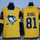 Men's Pittsburgh Penguins #81 Phil Kessel Yellow 2017 Stadium Series Jersey
