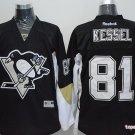 Men's Pittsburgh Penguins #81 Phil Kessel Black Stitched Ice Hockey Jerseys