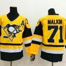 Men's Pittsburgh Penguins #71 Evgeni Malkin Yellow Throwback Stitched Jerseys