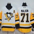 Men's Pittsburgh Penguins #71 Evgeni Malkin White Throwback Stitched Jerseys