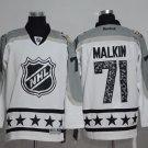 Men's Pittsburgh Penguins #71 Evgeni Malkin White All Star Stitched Jerseys