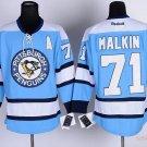 Men's Pittsburgh Penguins #71 Evgeni Malkin Blue Stitched Ice Hockey Jerseys