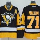 Men's Pittsburgh Penguins #71 Evgeni Malkin Black Throwback Stitched Jerseys