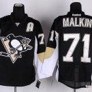 Men's Pittsburgh Penguins #71 Evgeni Malkin Black Stitched Ice Hockey Jerseys
