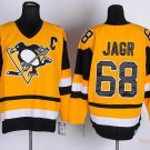Men's Pittsburgh Penguins #68 Jaromir Jagr Yellow Throwback Stitched Jerseys