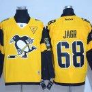 Men's Pittsburgh Penguins #68 Jaromir Jagr Yellow 2017 Stadium Series Jersey