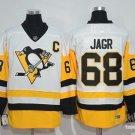 Men's Pittsburgh Penguins #68 Jaromir Jagr White Throwback Ice Hockey Jersey
