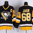Men's Pittsburgh Penguins #68 Jaromir Jagr Black Throwback Ice Hockey Jersey