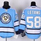 Men's Pittsburgh Penguins #58 Kris Letang Blue Stitched Ice Hockey Jerseys