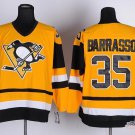 Men's Pittsburgh Penguins #35 Tom Barrasso Yellow Throwback Stitched Jerseys