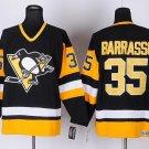 Men's Pittsburgh Penguins #35 Tom Barrasso Black Throwback Stitched Jerseys
