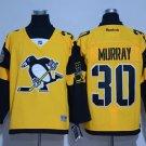 Men's Pittsburgh Penguins #30 Matt Murray Yellow 2017 Stadium Series Jersey