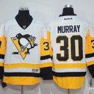 Men's Pittsburgh Penguins #30 Matt Murray White Throwback Stitched Jerseys