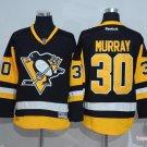 Men's Pittsburgh Penguins #30 Matt Murray Black Throwback Ice Hockey Jerseys