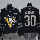Men's Pittsburgh Penguins #30 Matt Murray 100th Anniversary Black Stitched Jersey