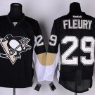 Men's Pittsburgh Penguins #29 Andre Fleury Black Stitched Ice Hockey Jerseys