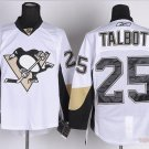 Men's Pittsburgh Penguins #25 Maxime Talbot White Stitched Ice Hockey Jerseys