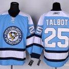 Men's Pittsburgh Penguins #25 Maxime Talbot Blue Stitched Ice Hockey Jerseys