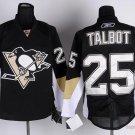 Men's Pittsburgh Penguins #25 Maxime Talbot Black Stitched Ice Hockey Jerseys