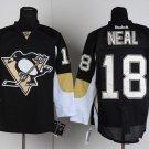 Men's Pittsburgh Penguins #18 James Neal Black Stitched Ice Hockey Jerseys