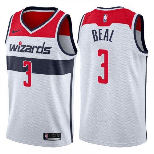 hot sale online b888a f9713 Men's Washington Wizards #3 Bradley Beal White Basketball Swingman Jersey
