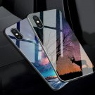 Phone Case For iPhone XS MAX XR Case Tempered Glass Silicon Luxury Cover